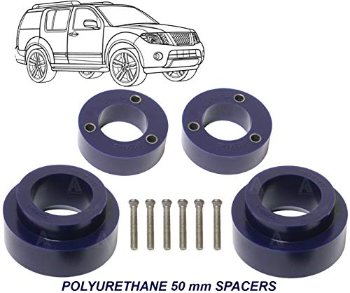 AUTOACER - Polyurethane PU Complete Front & Rear leveling Lift/Levelling kit 50mm Compatible with Nissan Pathfinder R51 2005-2014