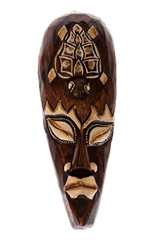 30cm Madera Maske Mascara Careta caratula Esculture Figura Tortuga HM3000003