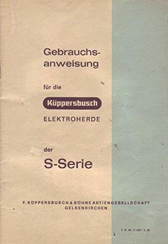 Küppersbusch Elektroherde der S-Serie Bedienungsanleitung