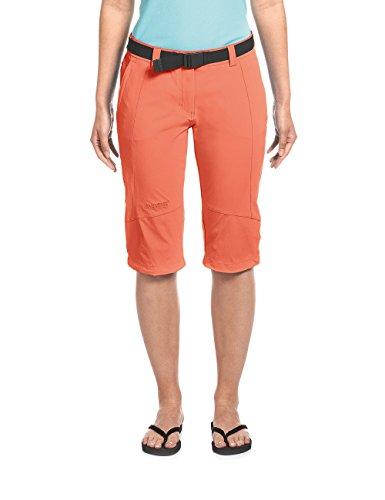 Maier Sports Kluane - Capri stretchbroek voor dames met een perfecte pasvorm en elastische band met riem, kleur: nasturtium (517); maat: 36 (normaal)
