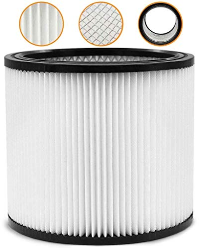 Wet Dry Shop Vac Filter 90304 Replacement Filter - Perfect for Wet/Dry Shop Vac Vaccuums - Long Lasting - High Absorption… (White)