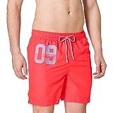 Superdry Waterpolo Swim Short Pantalones Cortos para Tabla, Havana Orange, L para Hombre