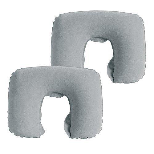 JR Quality Product Aufblasbares Nackenkissen für Urlaub und Reisen, kompakt, leicht für einfache Lagerung, 2 Stück
