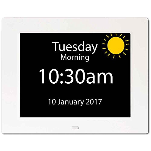 NRS Healthcare Rosebud Reminder Dementia Clock (Eligible for VAT Relief in The UK)