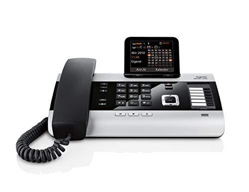 Gigaset DX600A ISDN-/DECT Telefon (mit 3 Anrufbeantwortern - Schnurtelefon mit großem Display) titanium