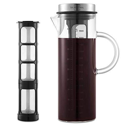SILBERTHAL Coffee Maker - Cold Brew Coffee Maker voor koud gezette koffie of thee - 1,3 l