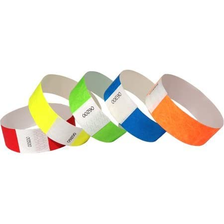 """500 Wristbands 1/"""" DNA Multi Color Tyvek Wristband"""