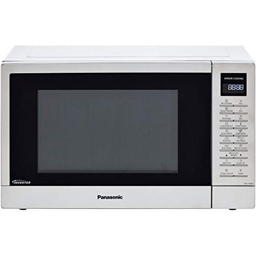Panasonic NN-ST48KSBPQ Solo Inverter Microwave Oven with Turntable with 25 Programmes and a Junior Menu, 1000 W, 32 L - Silver