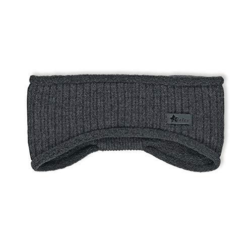 Sterntaler Strick-Stirnband für Jungen und Mädchen mit Fleece-Futter, Alter: 4-7 Jahre, Größe: 55/57, Grau (Anthrazit)