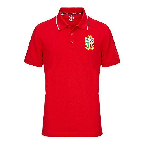 LÖWEN Rugby Supporter Polo, rot
