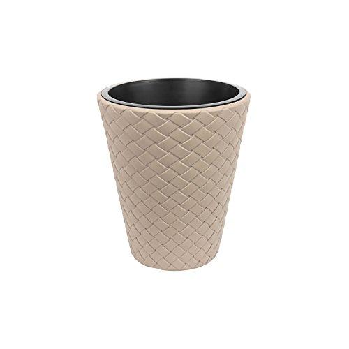 Matuba pot de fleur 30 cm rattan style, en caffe au lait