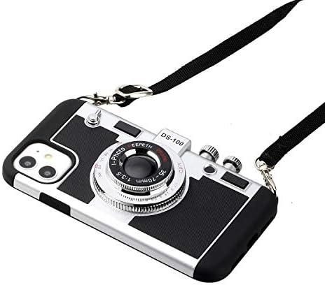 Wcysin Emily in Paris 3D Camera Design Case for iPhone 12 Retro Camera Case for iPhone 12 Pro product image
