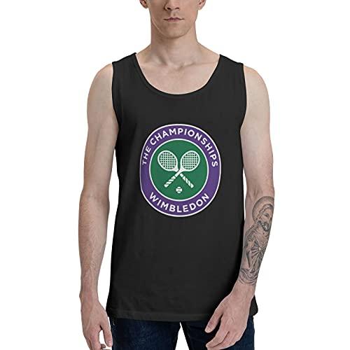 Wimbledon Tennis Championships Camisetastérmicaspara Camisetas sin Mangas de algodón para Hombre, Camisetas clásicas Informales sin Mangas de Rendimiento