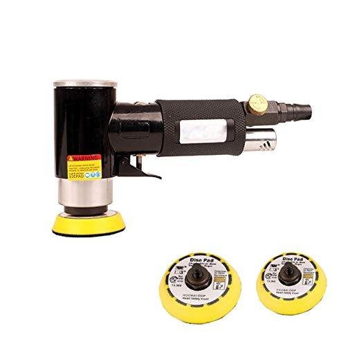 """Dyna-Living Exzenterschleifer Mini Druckluft Schleifmaschine Poliermaschine Rotationspolierer Orbitalschleifer Winkelschleifer Polierer mit 2"""" 3""""Schleifteller, Hohe Geschwindigkeit, bis 15000RPM"""
