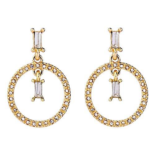 SODIAL Anillo GeoméTrico Pendientes de Diamantes Pendientes Femeninos Simples Salvajes Nuevos Pendientes de Moda