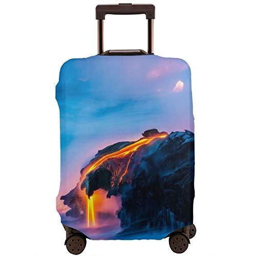 Cubierta de equipaje de viaje belleza natural volcán lava maleta protector lavable equipaje cubiertas