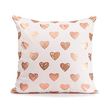 Mealivos Gold heart Decorative Throw Pillow COVER 18  (Rose gold)