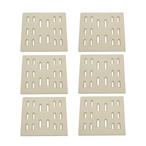 BBQ funland CR7501 (6-Pack) Universal Ceramic Radiant Replacement for Select Gas Grill Models Bakers and Chefs, Fiesta, Grand Hall, Member's Mark, SAMS & Turbo (8 x 7.25 inches)