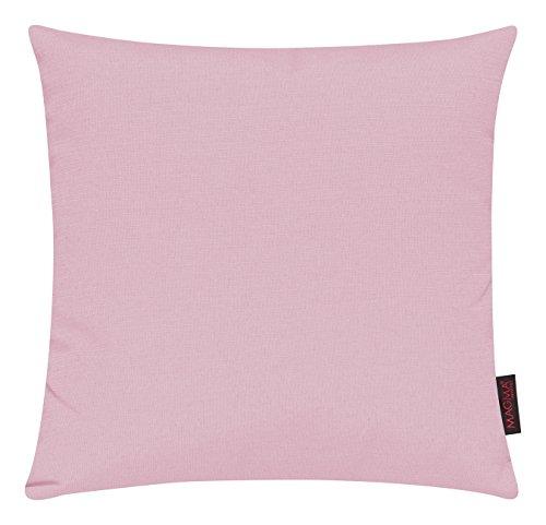 Fino Kissenhülle ca. 40 x 40 cm hochwertig & knitterarm Farbe (53 Altrose) 1 Stück