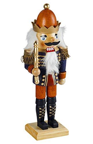 yanka-style Nussknacker Nußknacker König ca. 18 cm hoch aus Holz farbig Weihnachten Advent Geschenk Dekoration (50761-18)