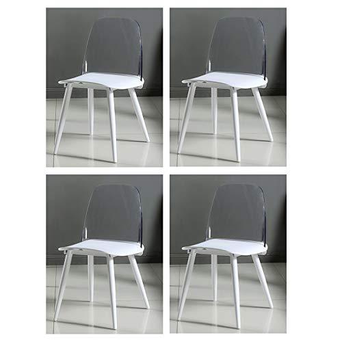 LHHL – Juego de 4 bandejas de desayuno para pequeños almuerzo sillas, superficie de plástico, asiento de plástico del respaldo PP de PC, pintura de patas de tubo de acero