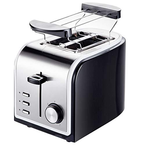 KM- Grille-pain R support de réchauffement de 2 tranches en acier inoxydable balayé pour le pain de petit déjeuner plateau ramasse-miettes amovible