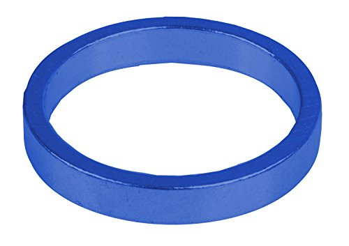 """M-Wave Spacer Set, 6 Pieces, 5 mm, for 1 1/8"""" a-Headset, Anodized Blue"""