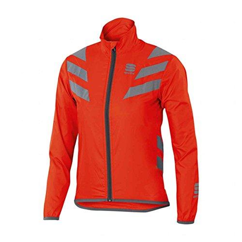 Sportful Reflex Jacket Junior, color naranja,plateado, talla 10 Y