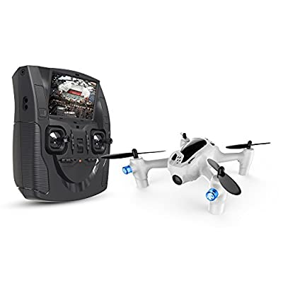 Hubsan Drone with HD camera, X4 H107D PLUS Headless Mode 2.4GHz 6-Axis Gyro Quadcopter with Altitude Hold 5.8G LCD Screen Real Time Transmitter