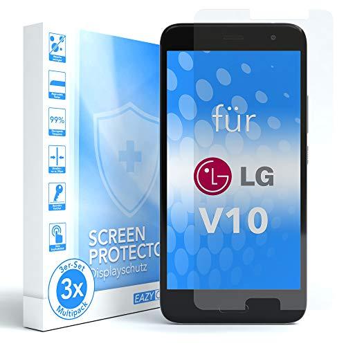 EAZY CASE 3X Panzerglas Bildschirmschutz 9H Festigkeit für LG V10, nur 0,3 mm dick I Schutzglas aus gehärteter 2,5D Panzerglasfolie, Bildschirmschutzglas, Transparent/Kristallklar