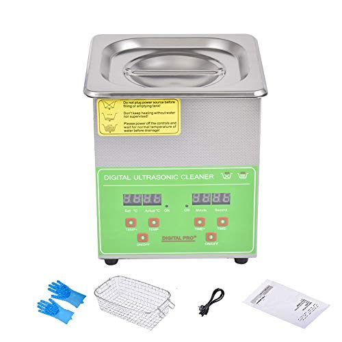 15L Ultrasonic Cleaner Stainless Steel Ultrasonic Cleaning Machine with Digital Timer and Heater Commercial Ultrasonic Parts Cleaner for Jewelry Watches Glasses