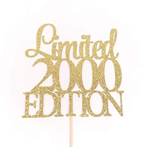 Limited 2000 Edition Taart Topper, Geboortejaar Taart Topper, 20e Verjaardag Taart Topper, Twintig Taart Topper, 20 Taart Topper, 20 Verjaardag Teken