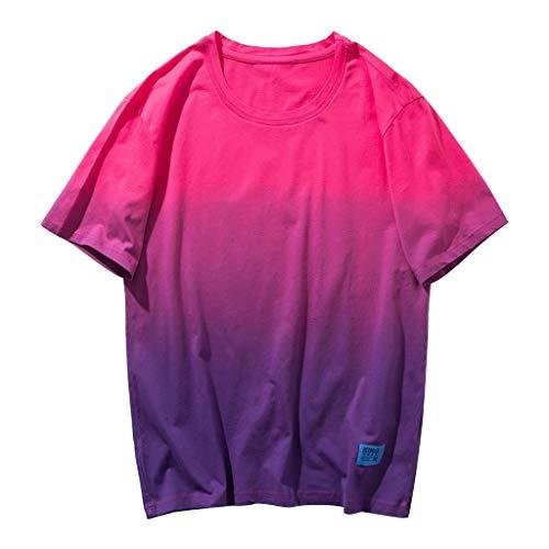 DOFENG Herren Casual T Shirt, Herren Sommer T Shirt Kurzarm Shirts Steigung Tops Männer Tanks Weste Atmungsaktiv Hemden Basic O-Ausschnitt