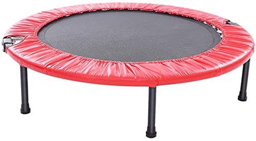 ZHENG Trampolin Cama Elástica Aptitud Rebounder for Interiores y Jardín/Gimnasio, 40 Pulgadas (Color : Red)