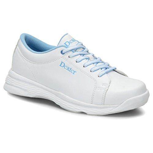 Dexter Womens Raquel V Bowling Shoes- 7 1/2, White/Blue, 7.5