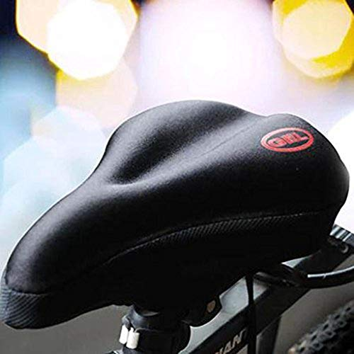 HNXCBH 2 Pcs Wider Bike Bicycle Silicone Silica Gel Cushion Soft Pad Saddle Durable Seat Cover Bicycle Mat Cycling Accessories Bicycle Seat Cover Padded (Color
