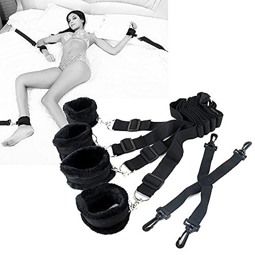 Tirantes de Yoga Ajustables Negros multifuncionales con Cuerdas...
