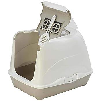 FLAMINGO - Loki Classic M 38 x 50 x 37 cm Maison de Toilette pour Chat. Beige. - FL-560730
