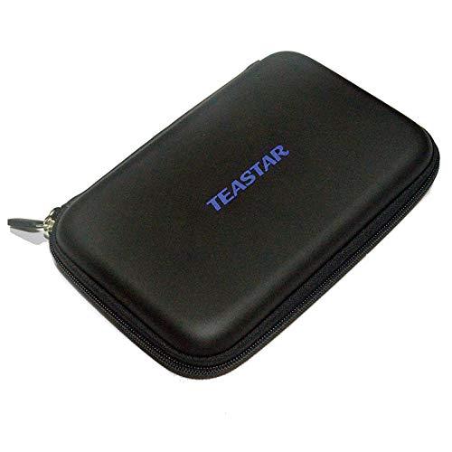 "TEASTAR 7"" Inch Hard Carrying Travel GPS Case Zipper Bag Pouch Cover GPS Protective for 6"" - 7"" GPS Navigation Garmin Nuvi 65LMT 2797lmt 2798LMT 2757LM 2789 Dezl 760lmt Tomtom Magellan Roadmate Black"