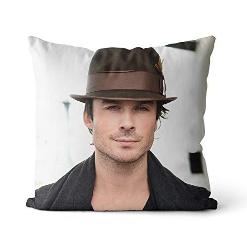 Ian Somerhalder per la pelle federa 40x40cm miglior attore Ian Somerhalder cuscino decorativo per divano, camera da letto, decorazione soggiorno