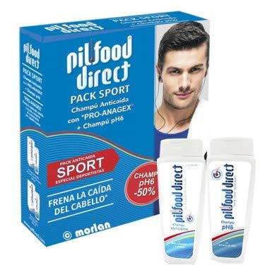 Pilfood PACK Sport Champú Anti Caída con Pro-Anagex y Vitaminas, 200ml+ Champú pH6,200ml