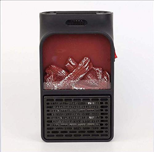 JIAJIA Mini draagbare simulatie vlam elektrische verwarming kan kleine elektrische verwarming verwarming vlam verwarming afstandsbediening