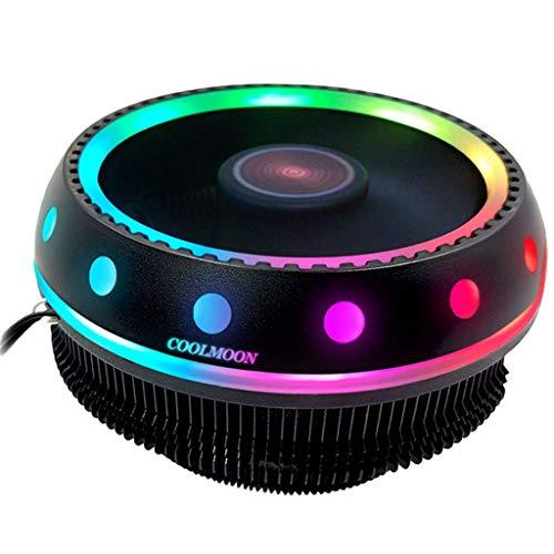 prasku Ordenador RGB CPU Enfriador Ventilador Silencioso Radiador Desmontable para Intel LGA AM2 AM3 +