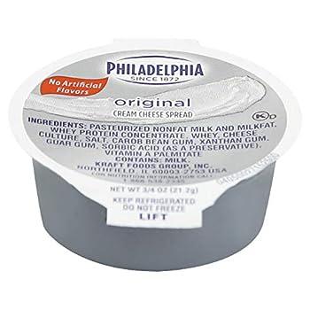 Kraft Philadelphia Original Cream Cheese Spread - Cup 3/4 Ounce -- 100 per case.