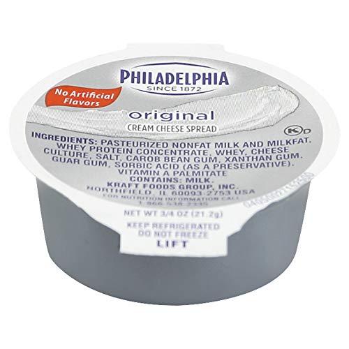 Kraft Philadelphia Original Cream Cheese Spread – Cup, 3/4 Ounce — 100 per case.