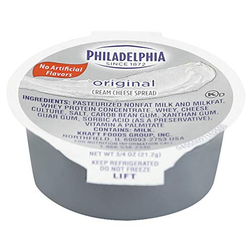 Kraft Philadelphia Original Cream Cheese Spread - Cup, 3/4 Ounce -- 100 per case.