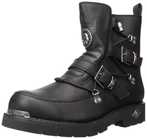HARLEY-DAVIDSON Biker Boots Schwarz, Schuhgröße:EUR 43