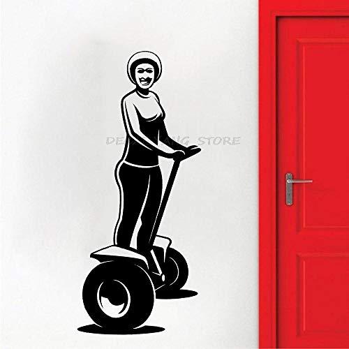 Fahrrad Roller Wandtattoo Fahrzeug Segways Home Interior Wandaufkleber für Baby Room Boy Große Dekoration an der Wand-25x57cm