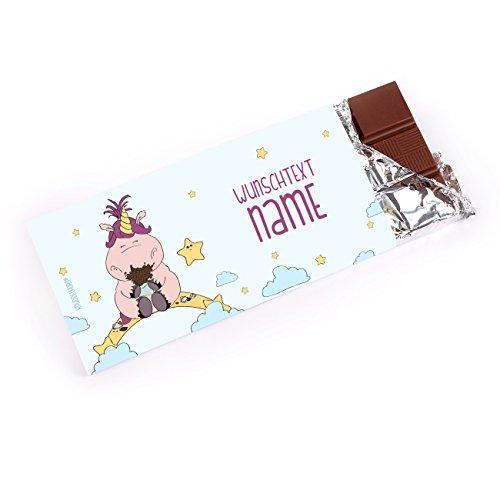 Knuddelhorn® Einhorn Schokolade zum Geburtstag - Knuddelhorn und Schnuppe - mit Wunschtext und Namen
