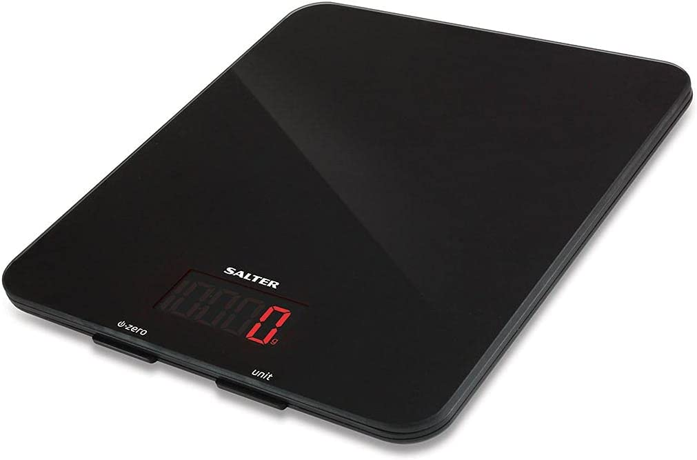 Salter Digital Great interest Kitchen Weighing Scales Glass Stylish ? Max 53% OFF Eas Black